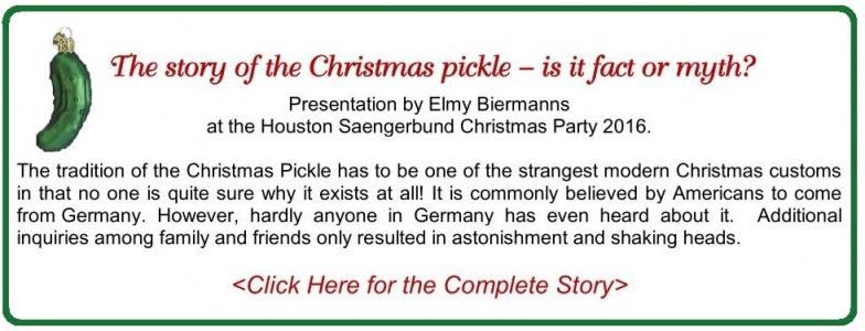 Christmas Pickle Story